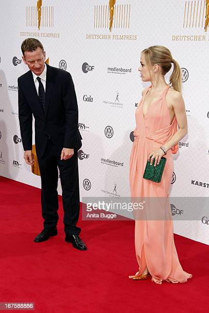 Michael Kessler and Friederike Kempter attend the Lola German Film Award 2013 at Friedrichstadtpalast at FriedrichstadtPalast on April 26 2013 in...