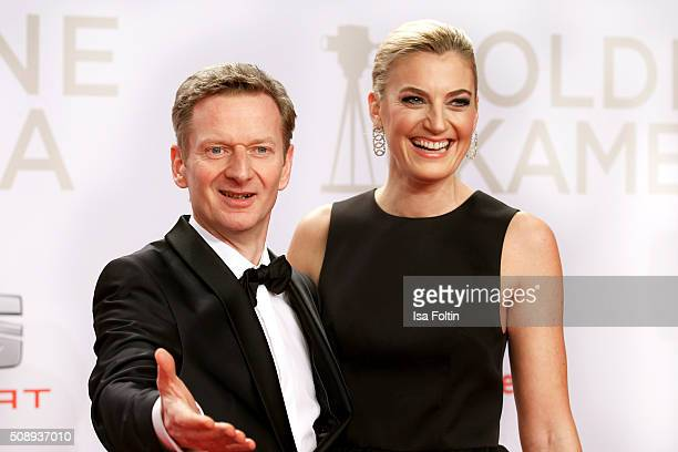 Michael Kessler and his manager Constanze Darschin attend the Goldene Kamera 2016 on February 6, 2016 in Hamburg, Germany.