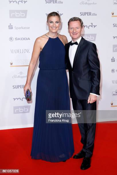 Michael Kessler and his manager Constanze Darschin attend the Goldene Henne on October 13, 2017 in Leipzig, Germany.
