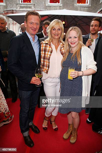 Michael Kessler Petra Nadolny and Jasmin Schwiers attend the NRW Filmparty at Wolkenburg on June 17 2014 in Cologne Germany