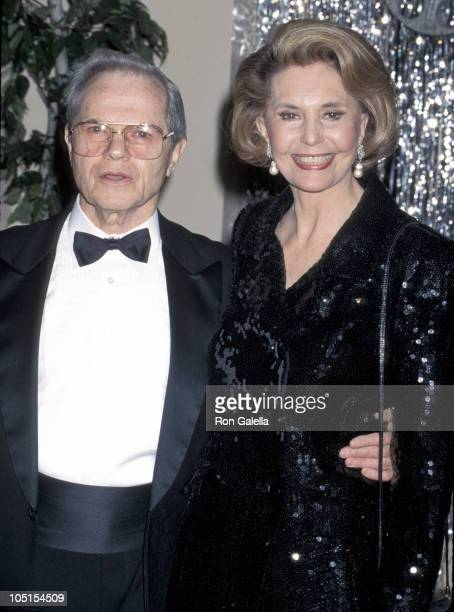 Michael Kidd and Cyd Charisse during 1996 Palm Springs International Film Festival at Marquis Crown Plaza Hotel in Palm Springs California United...