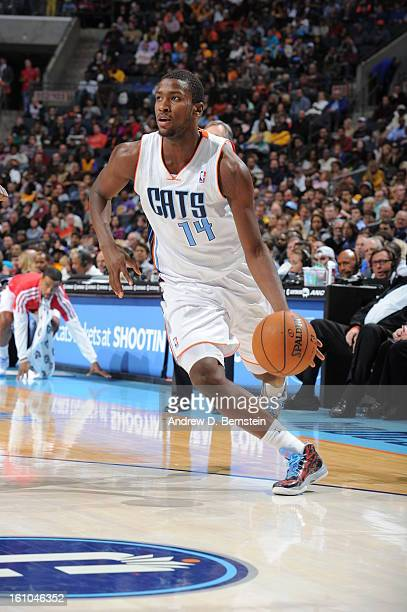 Michael KiddGilchrist of the Charlotte Bobcats against the Los Angeles Lakers on February 8 2013 at the Time Warner Cable Arena in Charlotte North...