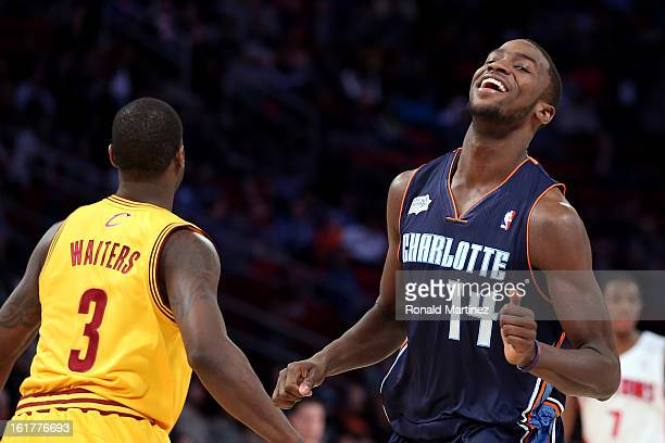 Michael KiddGilchrist of the Charlotte Bobcats and Team Shaq reacts in the BBVA Rising Stars Challenge 2013 part of the 2013 NBA AllStar Weekend at...