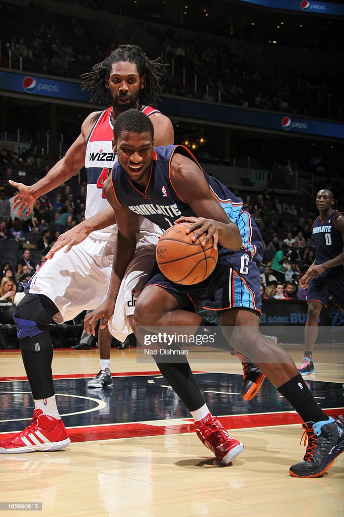 Michael Kidd-Gilchrist #14 of the Charlotte Bobcats drives to the basket against the Washington Wizards at the Verizon Center on March 9, 2013 in Washington, DC.