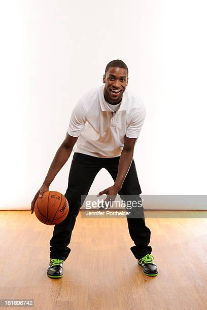 Michael KiddGilchrist of the Charlotte Bobcats poses for portraits during the NBAE Circuit as part of 2013 AllStar Weekend at the Hilton Americas...