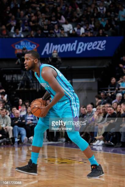Michael KiddGilchrist of the Charlotte Hornets handles the ball against the Sacramento Kings on January 12 2019 at Golden 1 Center in Sacramento...