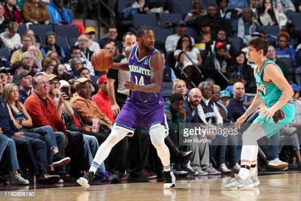 Michael KiddGilchrist of the Charlotte Hornets handles the ball during the game against the Memphis Grizzlies on December 29 2019 at FedExForum in...