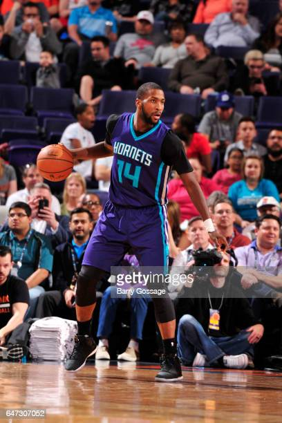 Michael KiddGilchrist of the Charlotte Hornets handles the ball against the Phoenix Suns during the game on March 2 2017 at Talking Stick Resort...