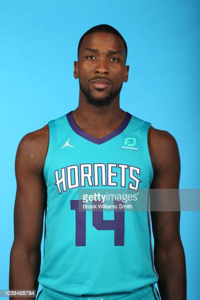 Michael KiddGilchrist of the Charlotte Hornets poses for a head shot during media day on September 24 at the Spectrum Center in Charlotte North...