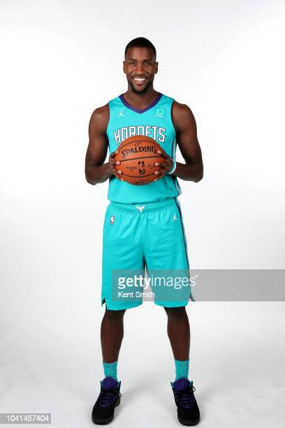 Michael KiddGilchrist of the Charlotte Hornets poses for a portrait during the Charlotte Hornets Media Day on September 24 at the Spectrum Center in...