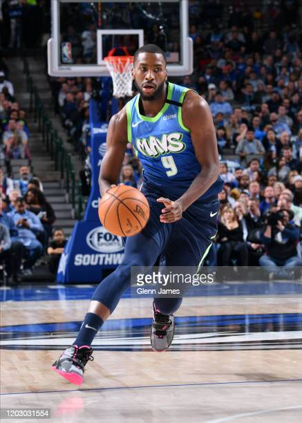 Michael KiddGilchrist of the Dallas Mavericks handles the ball against the Minnesota Timberwolves on February 24 2020 at the American Airlines Center...