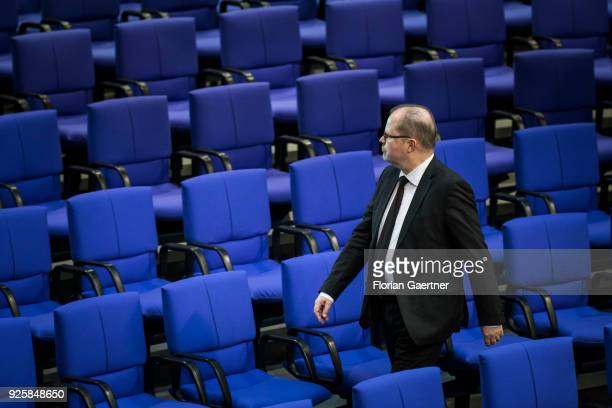 Michael Kiessling CDU is pictured during a plenary session at the German Bundestag on February 28 2018 in Berlin Germany