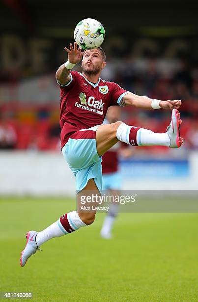 Michael Kightly of Burnley during a Pre Season Friendly match between Accrington Stanley and Burnley at The Store First Stadium on July 18 2015 in...