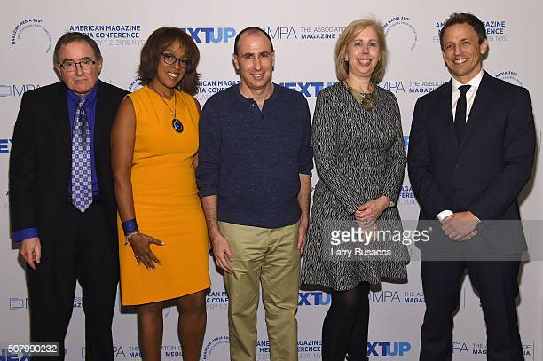 Michael Kinsley, contributing editor at Vanity Fair, Gayle King, co-cost of CBS This Morning and editor at large at O, The Oprah Magazine, Jonathan...