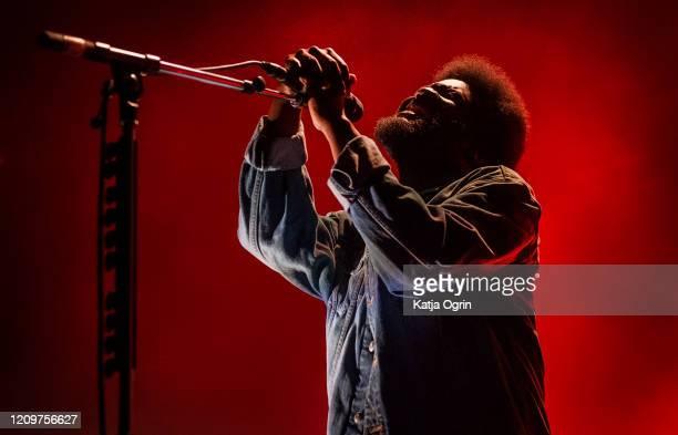 Michael Kiwanuka performs at O2 Academy Birmingham on March 1, 2020 in Birmingham, England.
