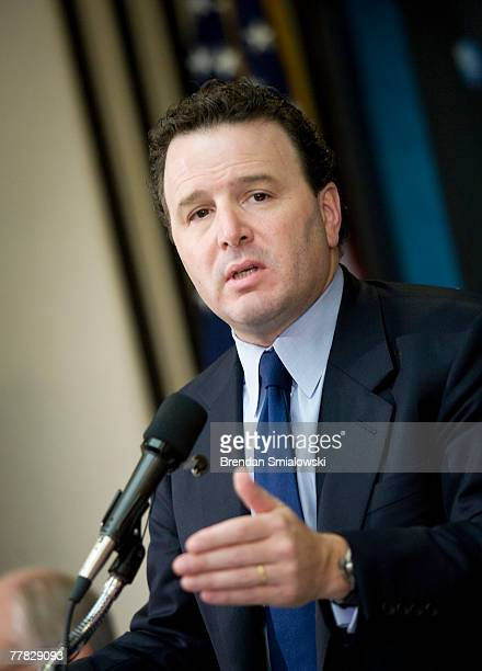 Michael Klein Chairman and CoChief Executive Officer of Citigroup's Citi Markets Banking speaks during a climate change seminar at the National Press...