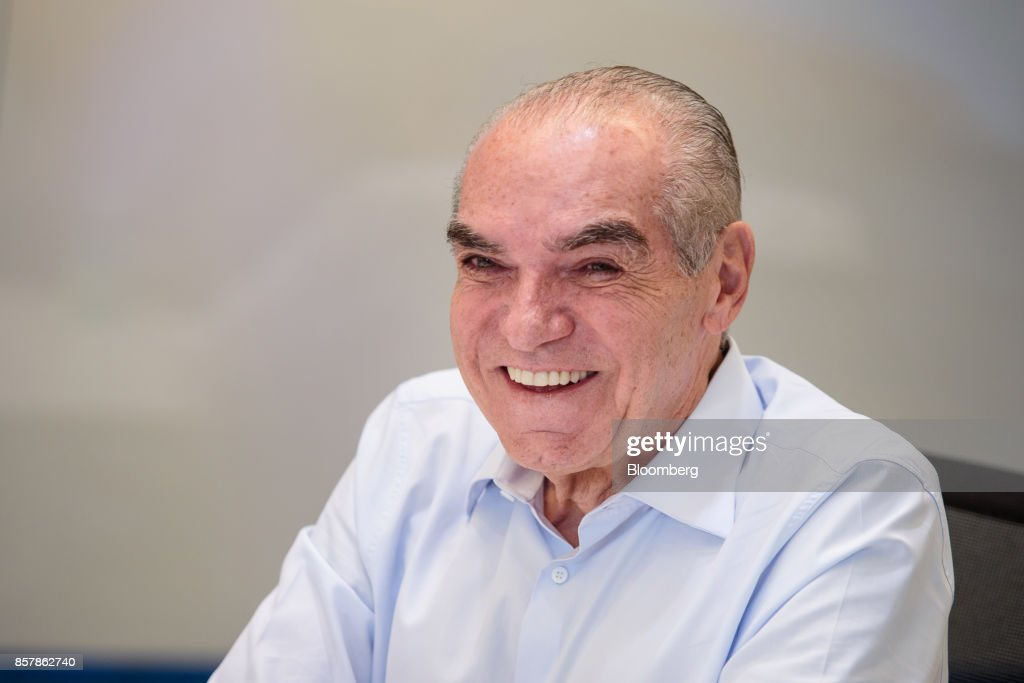 Michael Klein, chief executive officer and partner of Casas Bahia, smiles during an interview in Sao Paulo, Brazil, on Tuesday, Sept. 12, 2017. Klein, 66, whose father founded Casas Bahia, a folksy retail chain that hawks fridges and TVs, is seeking to build an empire of his own, using his cut of the proceeds after he and his siblings sold control of the company. Photographer: Patricia Monteiro/Bloomberg via Getty Images