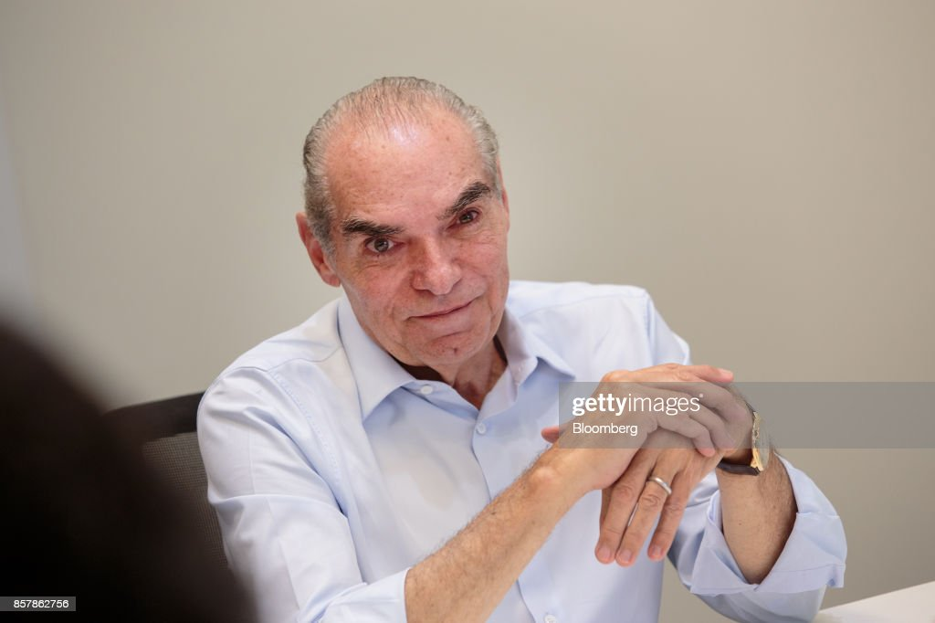 Michael Klein, chief executive officer and partner of Casas Bahia, listens during an interview in Sao Paulo, Brazil, on Tuesday, Sept. 12, 2017. Klein, 66, whose father founded Casas Bahia, a folksy retail chain that hawks fridges and TVs, is seeking to build an empire of his own, using his cut of the proceeds after he and his siblings sold control of the company. Photographer: Patricia Monteiro/Bloomberg via Getty Images