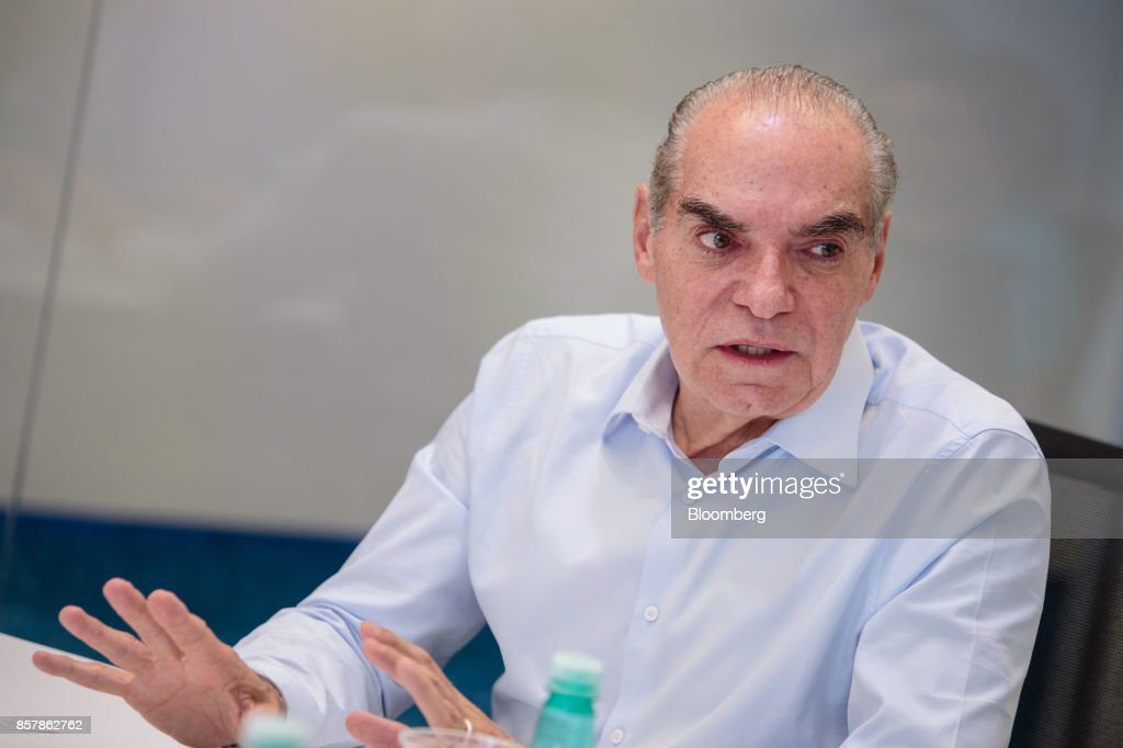 Michael Klein, chief executive officer and partner of Casas Bahia, speaks during an interview in Sao Paulo, Brazil, on Tuesday, Sept. 12, 2017. Klein, 66, whose father founded Casas Bahia, a folksy retail chain that hawks fridges and TVs, is seeking to build an empire of his own, using his cut of the proceeds after he and his siblings sold control of the company. Photographer: Patricia Monteiro/Bloomberg via Getty Images
