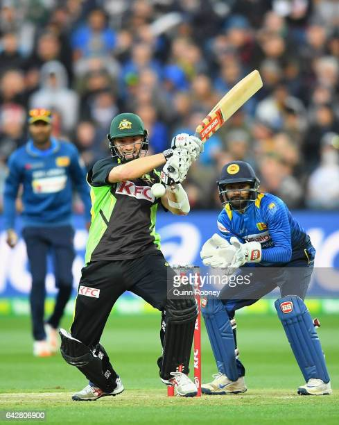 Michael Klinger of Australia bats during the second International Twenty20 match between Australia and Sri Lanka at Simonds Stadium on February 19...