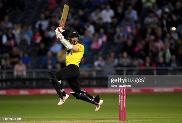 Michael Klinger of Gloucestershire bats during the Vitality Blast match between Gloucestershire and Hampshire at Bristol County Ground on August 13...