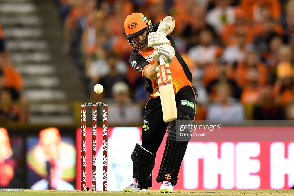 Michael Klinger of the Scorchers bats during the Big Bash League match between the Perth Scorchers and the Sydney Sixers at WACA on January 1, 2018 in Perth, Australia.