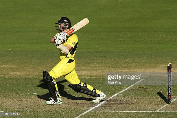 Michael Klinger of the Warriors bats during the Matador BBQs One Day Cup match between the Cricket Australia XI and Western Australia at Hurstville...