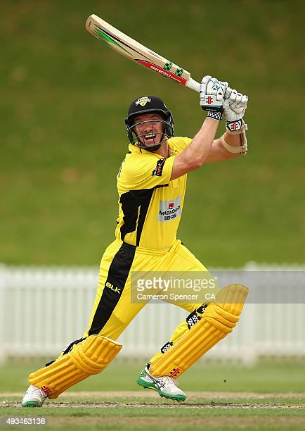 Michael Klinger of Western Australia bats during the Matador BBQs One Day Cup match between Western Australia and Queensland at Drummoyne Oval on...