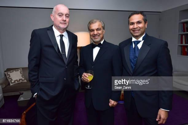 Michael Kocher Zarif Bedruddin and Nageeb Sumar attend The Aga Khan Foundation Gala at The Metropolitan Museum of Art on November 15 2017 in New York...