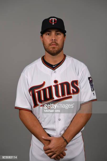 Michael Kohn of the Minnesota Twins poses during Photo Day on Wednesday February 21 2018 at CenturyLink Sports Complex in Fort Myers Florida