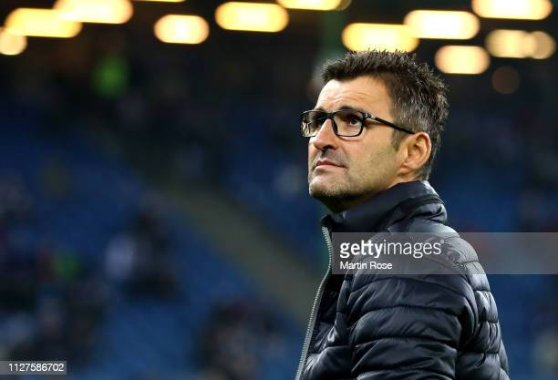 Michael Kollner, Manager of 1. FC Nuernberg ahead of the DFB Cup match between Hamburger SV and 1. FC Nuernberg at Volksparkstadion on February 05,...