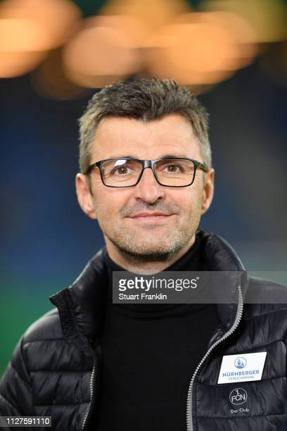 Michael Kollner, Manager of Nuernberg during the DFB Cup match between Hamburger SV and 1. FC Nuernberg at Volksparkstadion on February 05, 2019 in...
