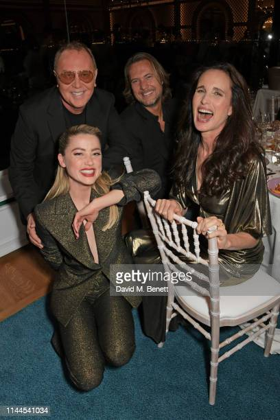 Michael Kors, Amber Heard, Lance LePere and Andie MacDowell attend the 10th Annual Filmmakers Dinner hosted by Charles Finch, Edward Enninful and...