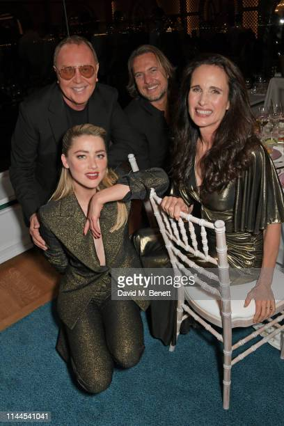 Michael Kors Amber Heard Lance LePere and Andie MacDowell attend the 10th Annual Filmmakers Dinner hosted by Charles Finch Edward Enninful and...