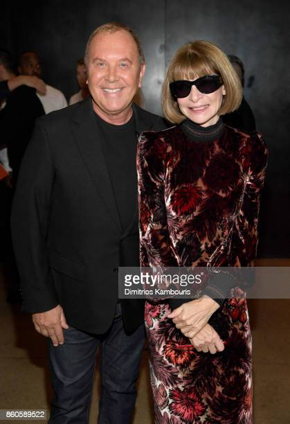 Michael Kors and Anna Wintour attend Vogue's Forces of Fashion Conference at Milk Studios on October 12 2017 in New York City