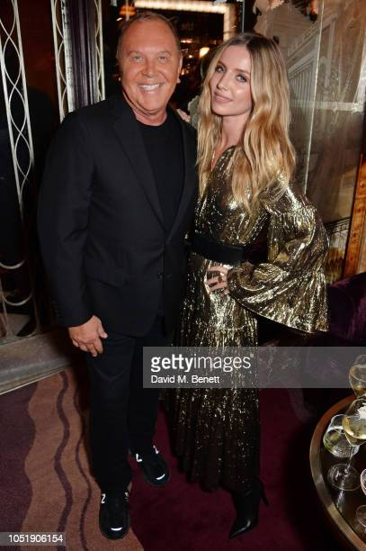 Michael Kors and Annabelle Wallis attend the Michael Kors cocktail party to celebrate the collaboration with David Downton at Claridge's Hotel on...