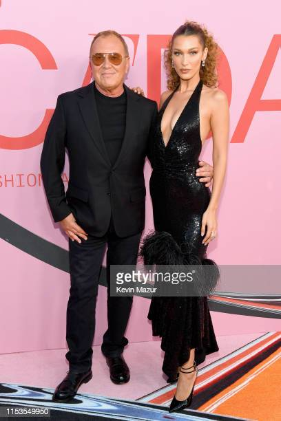 Michael Kors and Bella Hadid attend the CFDA Fashion Awards at the Brooklyn Museum of Art on June 03 2019 in New York City