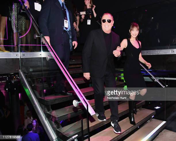 Michael Kors and Bella Hadid attend the Jump Into Spring MICHAEL Michael Kors Spring 2019 Launch Party on February 05 2019 in New York City