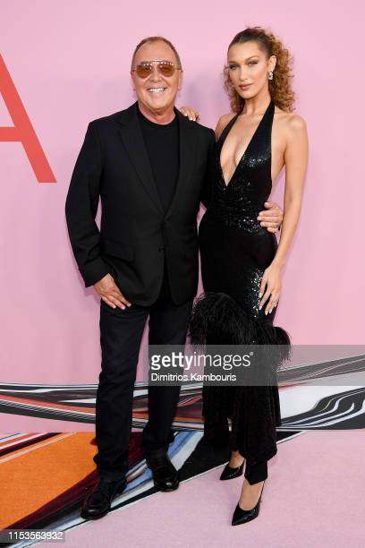Michael Kors and Bella Hadid attends the CFDA Fashion Awards at the Brooklyn Museum of Art on June 03 2019 in New York City