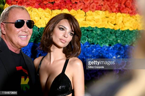 Michael Kors and Emily Ratajkowski attend the 73rd Annual Tony Awards at Radio City Music Hall on June 09 2019 in New York City