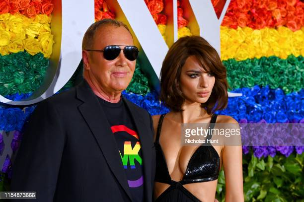 Michael Kors and Emily Ratajkowski attend the 73rd Annual Tony Awards at Radio City Music Hall on June 09, 2019 in New York City.