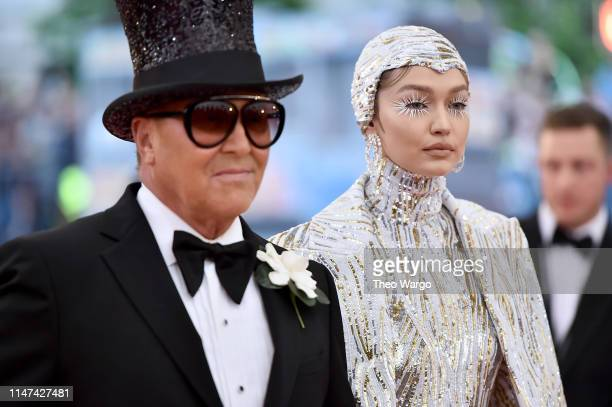 Michael Kors and Gigi Hadid attend The 2019 Met Gala Celebrating Camp: Notes on Fashion at Metropolitan Museum of Art on May 06, 2019 in New York...