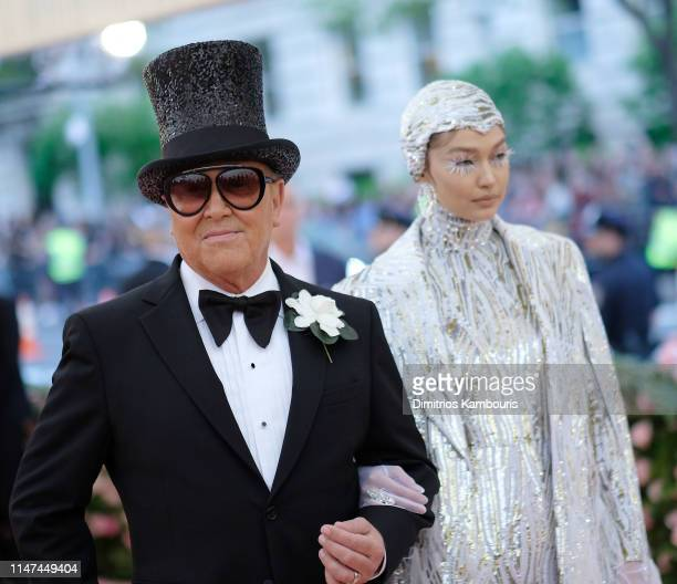 Michael Kors and Gigi Hadid attend The 2019 Met Gala Celebrating Camp Notes on Fashion at Metropolitan Museum of Art on May 06 2019 in New York City
