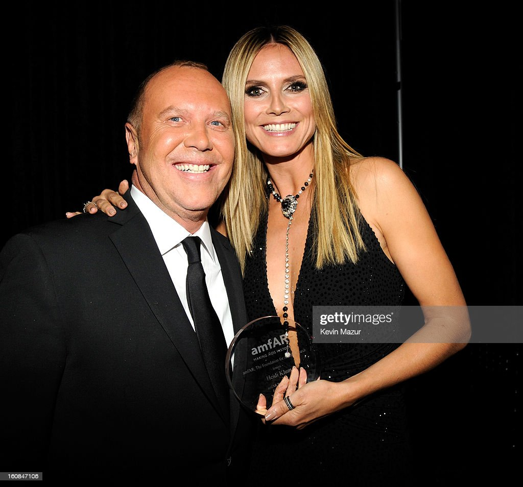 Michael Kors and Heidi Klum attend the amfAR New York Gala To Kick Off Fall 2013 Fashion Week at Cipriani Wall Street on February 6, 2013 in New York City.