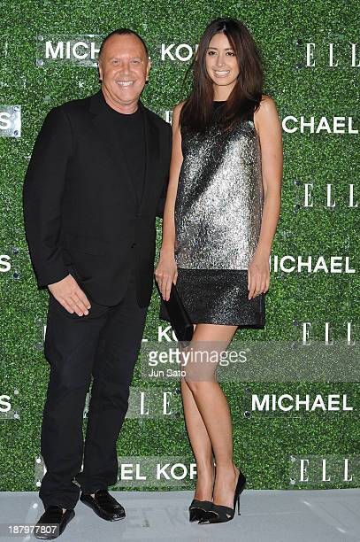 Michael Kors and Izumi Mori attend 'Michael Kors and Miranda Kerr Celebrate Elle Japon December Cover' party at the Gallery of Horyuji Treasures of...