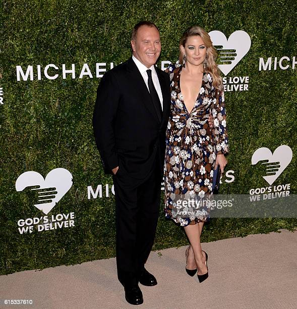 Michael Kors and Kate Hudson attend the 2016 God's Love We Deliver Golden Heart Awards dinner at Spring Studios on October 17 2016 in New York City
