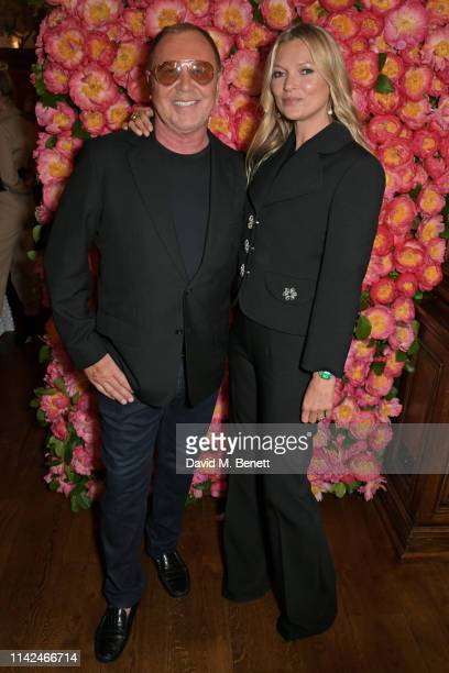 Michael Kors and Kate Moss attend a private dinner hosted by Michael Kors to celebrate the new Collection Bond St Flagship Townhouse opening on May 9...