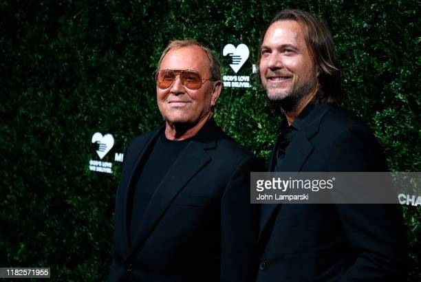 Michael Kors and Lance LePere attend God's Love We Deliver 13th Annual Golden Heart Awards celebration at Cipriani South Street on October 21 2019 in...