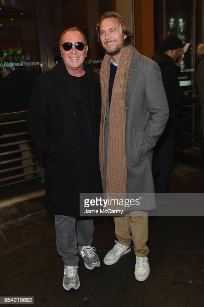 Michael Kors and Lance LePere attend the Arthur Miller's The Price Broadway Opening Night at American Airlines Theatre on March 16 2017 in New York...