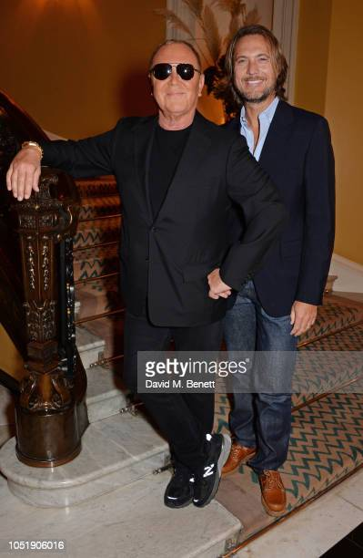 Michael Kors and Lance LePere attend the Michael Kors cocktail party to celebrate the collaboration with David Downton at Claridge's Hotel on October...